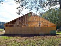 Rahmen der Kirche im Bau in ländlichem Georgia Stockbild