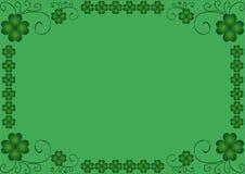 Rahmen des Klees mit vier Blättern Lizenzfreie Stockfotos