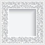 Rahmen des quadratischen Papiers Stockbild