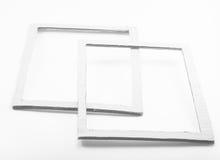 Rahmen des Schmutzleeren papiers Stockfotografie
