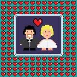 Rahmen des verheirateten Paars Stockfotografie