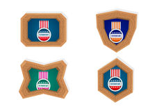 Rahmen des Veterans Tages Lizenzfreies Stockfoto