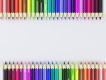 Rahmen durch bunte Bleistifte stock abbildung