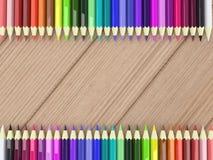Rahmen durch bunte Bleistifte lizenzfreie abbildung