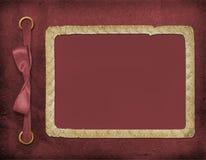 Rahmen für ein Foto oder Einladungen. Ein weinartiger Bogen lizenzfreie abbildung