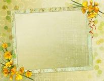 Rahmen für Einladung oder Glückwunsch. Lizenzfreie Stockfotografie
