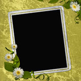 Rahmen für Foto oder Glückwunsch Stock Abbildung