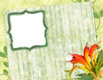 Rahmen für Foto oder Glückwunsch Lizenzfreies Stockbild