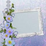 Rahmen für Foto oder Glückwunsch. Lizenzfreies Stockbild