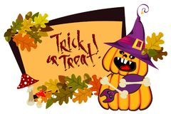 Rahmen-Halloween-Tag Lizenzfreie Stockfotografie