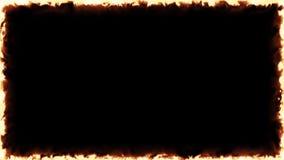Rahmen-Hintergrund-Clip des Feuer-4k lizenzfreie abbildung