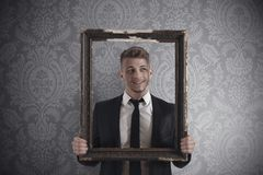 Rahmen im Geschäft Stockfotografie