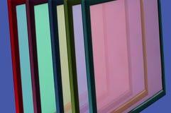 Rahmen mit buntem Glas Stockfotografie