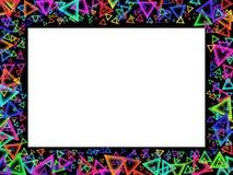 Rahmen mit geometrischen Abbildungen der Farbe Stockbild