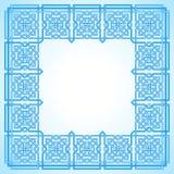Rahmen mit verwirrtem modernem Muster vektor abbildung