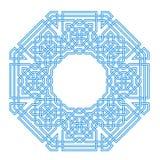 Rahmen mit verwirrtem modernem Muster lizenzfreie abbildung