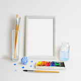 Rahmen-Spott oben mit Watercolour Stockfotografie