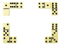 Rahmen vom dominoe Stockfoto