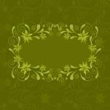 Rahmen von Blättern Stockbilder
