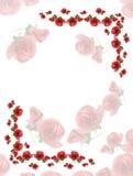 Rahmen von den rosafarbenen Knospen der Blumen. Lizenzfreie Stockbilder