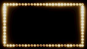 Rahmen von Glühlampen für eine Film-Grenze vektor abbildung