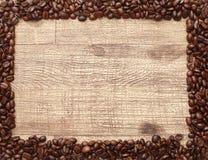 Rahmen von Kaffeebohnen stockfoto