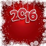 Rahmenhintergrund des neuen Jahres der Schneeflocken Stockbilder