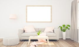 Rahmenmodell auf Wohnzimmer stockfotos