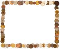 Rahmenorganisation der Münzen Lizenzfreies Stockbild