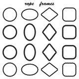 Rahmensammlung des schwarzen Seils Stockbilder