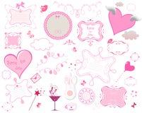 Rahmensammlung des Valentinsgrußes Stockbilder