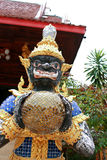 Rahu sculpture. From Ramayana in thai temple Stock Image