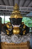 Rahu statue. A celestial monster which causes elipses by eating the sun or moon Stock Image