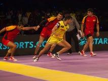Rahul Chaudhari übte aus Stockfoto
