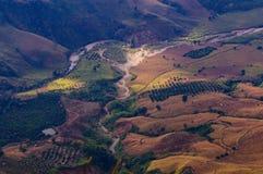 Rai Ταϊλάνδη Chiang βουνών τοπίων topview Στοκ Εικόνες