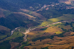 Rai Ταϊλάνδη Chiang βουνών τοπίων topview Στοκ φωτογραφία με δικαίωμα ελεύθερης χρήσης