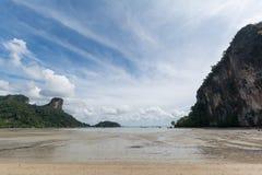Rai del este pone la playa, Krabi, Tailandia Imagen de archivo libre de regalías