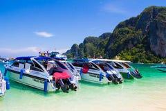 Rai legt Strand Krabi Thailand, Mahya-baai, Maya baai Royalty-vrije Stock Foto