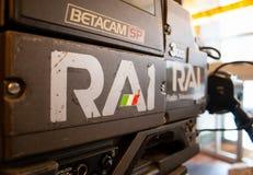 RAI-radio Televisione Italiana, gammal logo av den italienska statliga radion och television arkivfoto