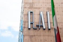RAI Radio Televisione Italiana, old logo of Italian state radio and television royalty free stock image