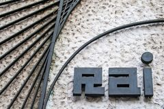 RAI Radio Televisione Italiana, old logo of Italian state radio and television stock photos