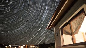 Raia das estrelas no telhado Fotos de Stock