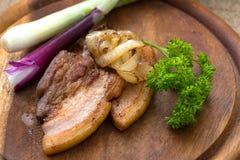 Raia fritada da carne sem gordura & do x28; fatback& x29; fotografia de stock
