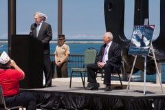 Raia Mabus em USS Illinois que nomeia a cerimónia Foto de Stock Royalty Free