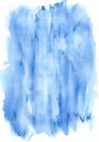 Raias azuis da textura da aquarela Fotografia de Stock