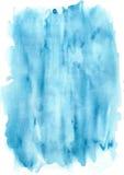 Raias azuis da textura da aquarela Foto de Stock Royalty Free