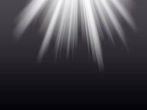Raias claras no fundo preto Imagem de Stock