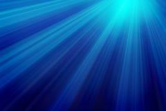Raias de luz subaquáticas Fotos de Stock