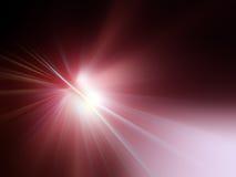 Raias de luz vermelhas Foto de Stock Royalty Free