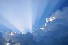 Raias de Sun Fotografia de Stock Royalty Free